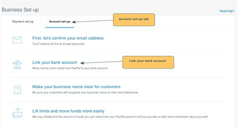 set up paypal with bank account paypal set up linking your bank account