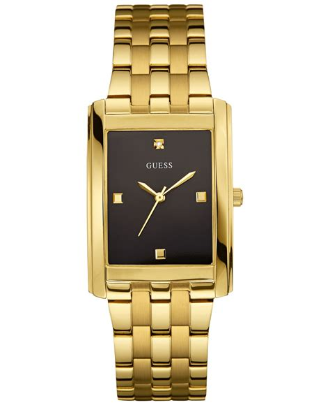 Guess Stainles Gold 1 guess s accent gold tone stainless steel bracelet 30mm u0667g2 in metallic for