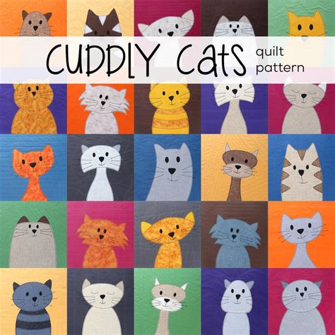Free Cat Quilt Patterns by Big Stitch Quilting An Easy And Quilting