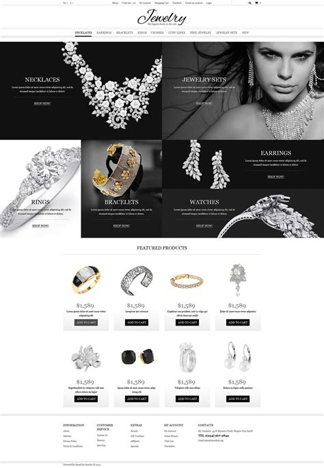 drupal themes jewelry jewelry online shop opencart template 49583