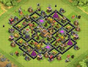 Mortars coc th8 trophy base 4