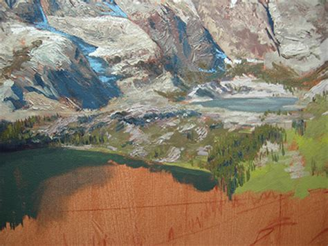 berge malen mountains painting tutorial