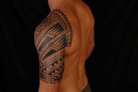 half sleeves tattoos shane tattoos polynesian half sleeve on codie