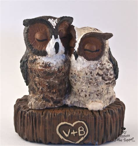 owl toppers bird wedding cake toppers my custom cake topper