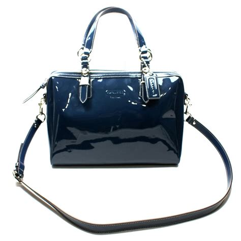 Coach Patent Leather Nancy Satchel Swing Bag 24041