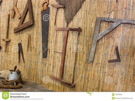 carpentry stock image image  mallet board plank