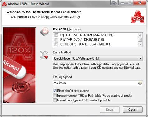 quick format cd rw erase wizard