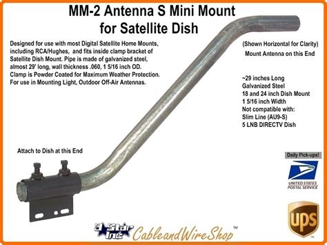 s pipe mount universal roof mast for dish tv antenna mm2
