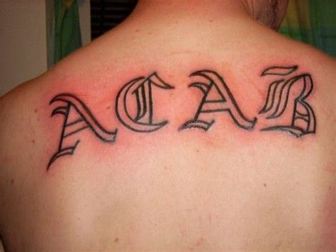 acab tattoo acab tattoos