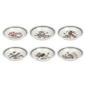 The Botanic Garden Portmeirion Portmeirion Botanic Garden Birds Pasta Bowls Set Of 6 Portmeirion Uk