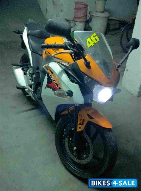 honda cbr 150r orange colour orange white honda cbr 150r for sale in krishna neatly