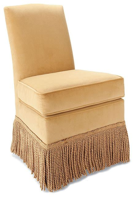 Vanity Chair Houzz Marisa Fringed Vanity Chair Traditional Vanity Stools And