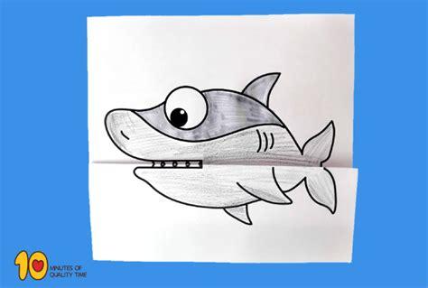 surprise folding paper shark  minutes  quality time