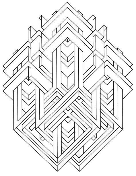 op art coloring pages coloring home
