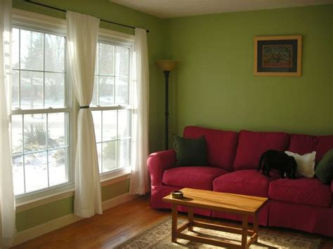 sofa color for green walls 17 best images about red couch rooms on pinterest red
