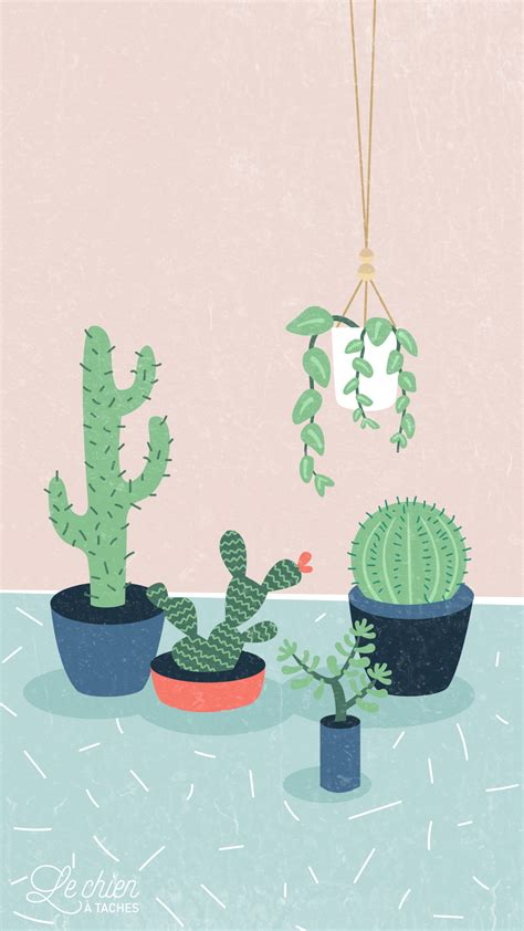 wallpaper for iphone cactus cactus girl pastel iphone lock wallpaper panpins fondos