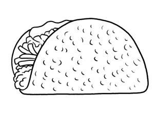 taco template how to draw a taco step by step food pop culture free