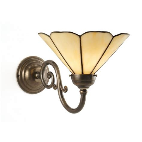 traditional brass wall lights traditional aged brass single wall light with tiffany