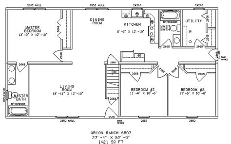 Ranch Style Floor Plan by Elegant And Affordable Living Made Possible By Ranch Floor