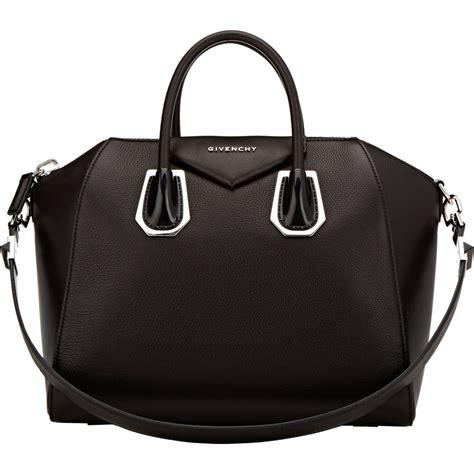 Givenchy Antigona Black Hardware 1 lyst givenchy antigona medium duffel in black