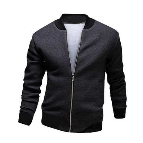 Jaket Bomber Mens Simple Pria Casual 2016 brand mens summer thin jacket casual slim fit solid jacket bomber jacket hombres