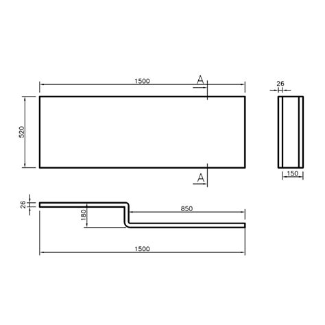 Shower Screen Dimensions by Leda L Shape Right Shower Bath 1500 X 850