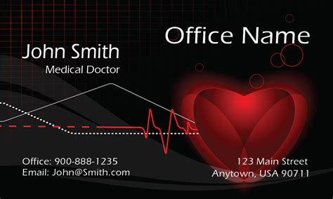 doctor visiting card design templates cardiologist doctor business card design 301481
