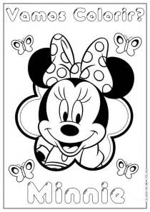 minnie para colorear laminas para colorear coloring pages