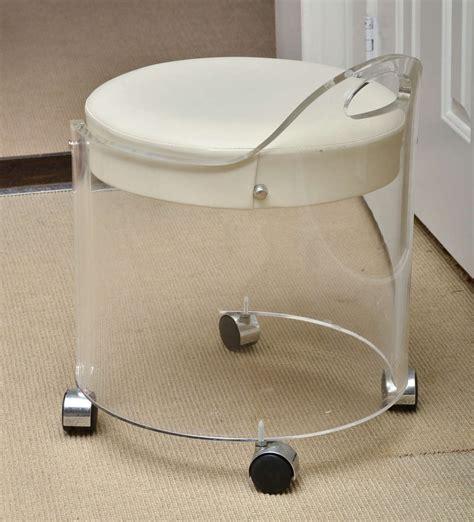 vintage lucite vanity stool by charles hollis jones