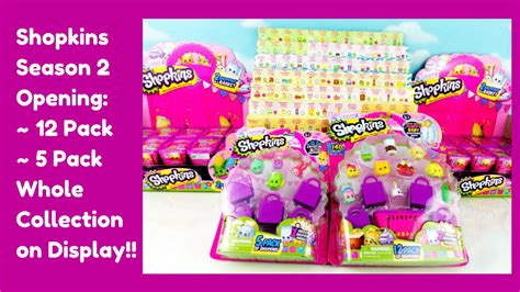 shopkins season 2 opening 12 pack 5 pack limited edition