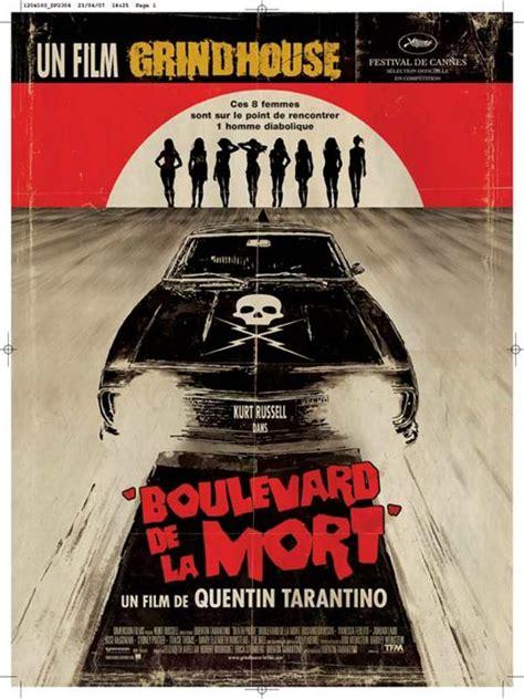 Affiche Film Quentin Tarantino | affiche du film boulevard de la mort un film grindhouse