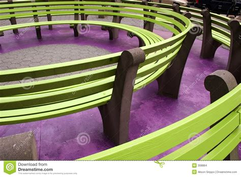 colored benches circle of benches stock images image 308884