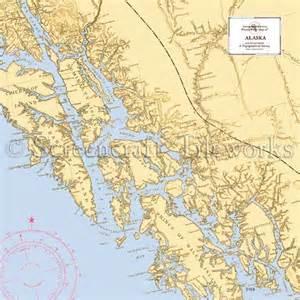 Home Decor Beach Style alaska juneau ketchikan nautical chart decor