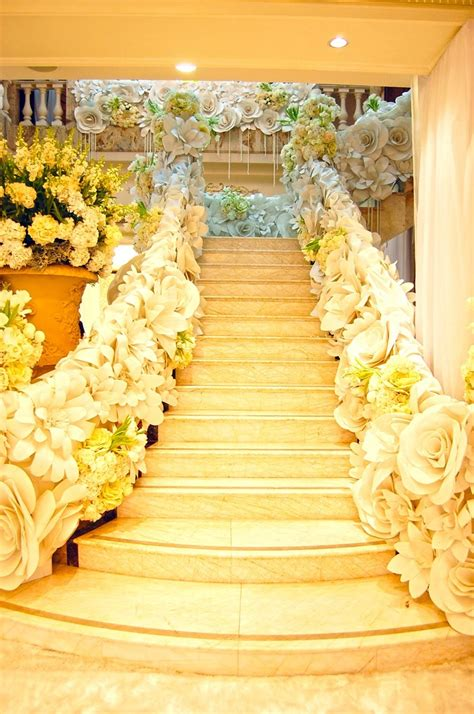 flower decor paper flower staircase if i say quot i do quot paper flowers paper flower