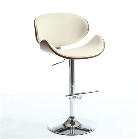 havana bar stool havana cream walnut chrome adjustable bar stool sha