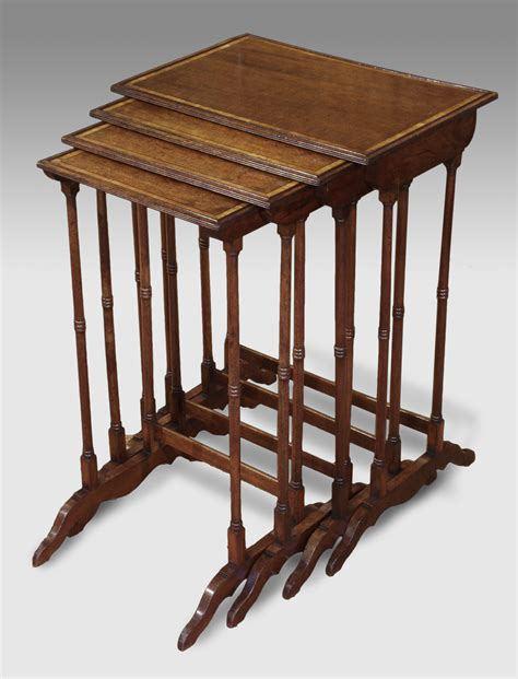 pictures of tables antique nest of tables mahogany nest of tables satinwood