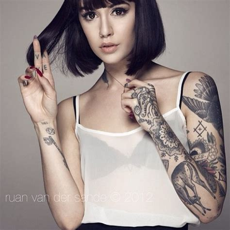 tattoo and girl girl sleeve tattoo inked generation