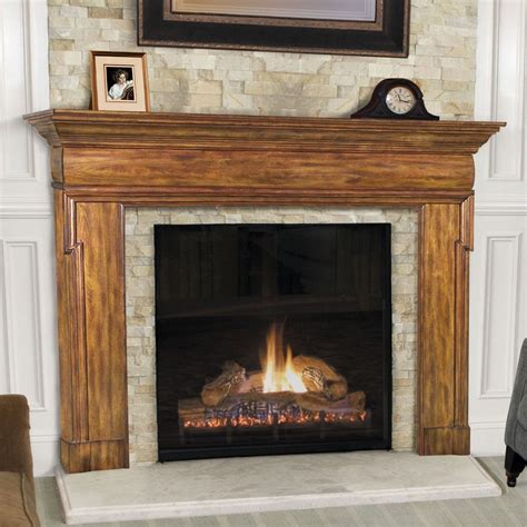 L Mantle by Hermitage Transitional Fireplace Mantel Pearl Mantels