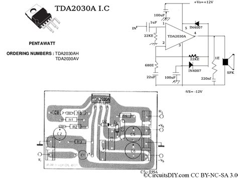 tda2030a lifier circuit used in home theaters