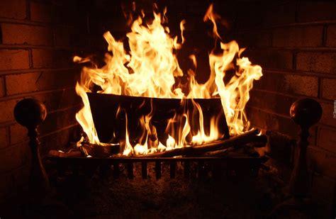 plomienie ogien kominek