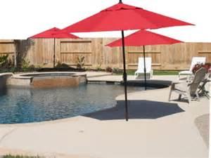 Vinyl Patio Umbrella Installing A Pool Side Or In Pool Umbrella
