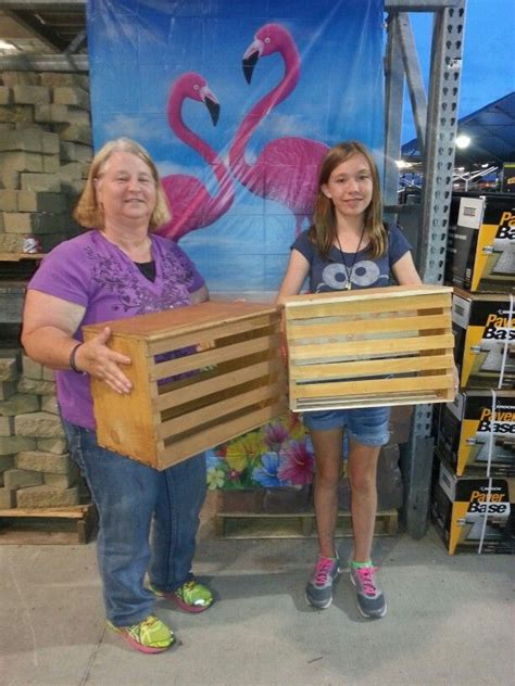 crates made with 5 gallon paint sticks at home depot