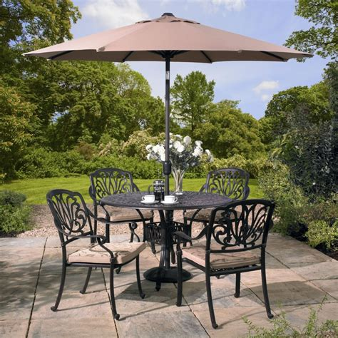 Home Patio Brand by Amalfi 4 Seat Set Bronze Hartman By Brand Patio