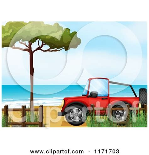 beach jeep clipart royalty free rf jeep on beach clipart illustrations