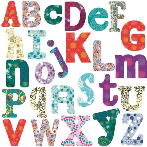 Letter Stickers boho alphabet big room decor wall stickers vinyl removable
