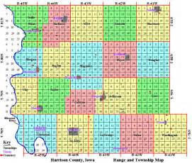 harrison county iowa section map townships