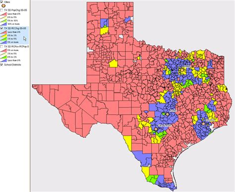 texas school region map school district demographic trends