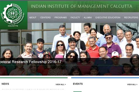 Ca Plus Mba From Iim Salary by Iim Calcutta Recruitment 2017 Apply Finance And