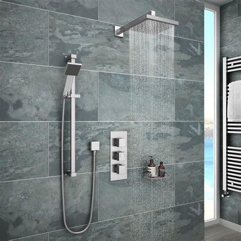 milan concealed shower valve   rail kit wall