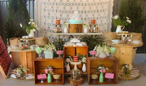 kara party ideas vintage rustic cing party